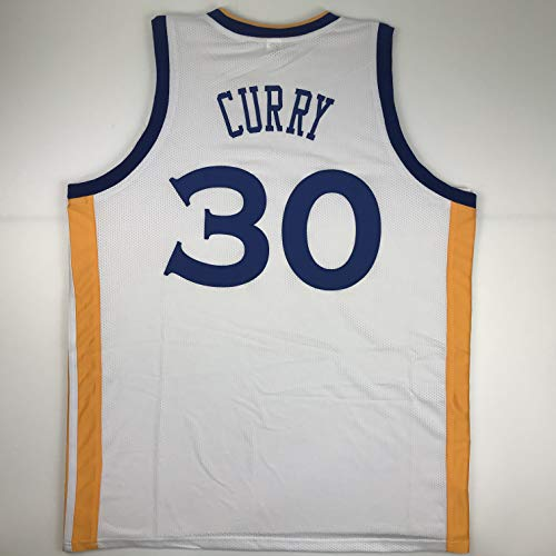 Unsigned Steph Stephen Curry Golden State White Custom Stitched Basketball Jersey Size Men's XL New No Brands/Logos