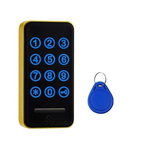 Touch toetsenbord wachtwoord RFID-kaart sleutel metalen digitale elektronische kast Locker Lock 118pw-Zilver
