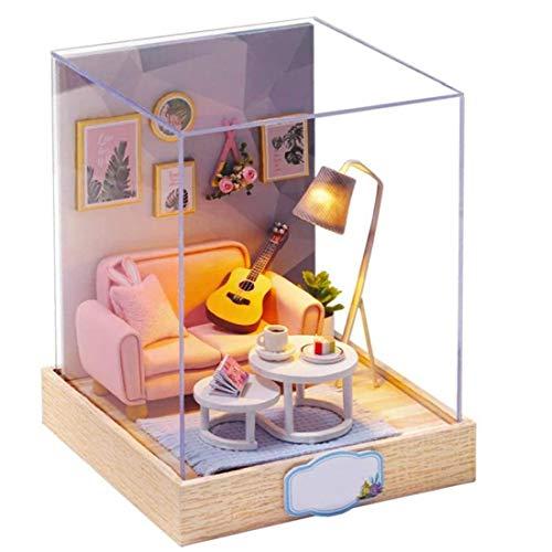 Yisily Miniatura Cutebee Casa De Muñecas con Muebles, Miniatura Muñeca Muebles De...