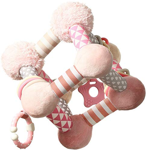 Baby ONO Tiny Joga Aktivitätenwürfel und Motorikspielzeug, rosa 899/01