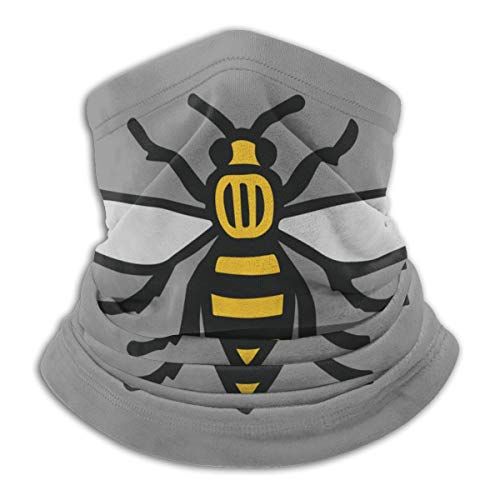 Manchester Bee Fleece Neck Warmer Windproof Scarf Bandana Face Mask Gaiter Outdoor Activities
