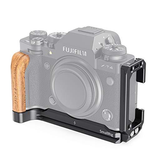 SMALLRIG L-Bracket L Winkel mit Holzhandgriff für FUJIFILM X-T4 Kamera - LCF2811