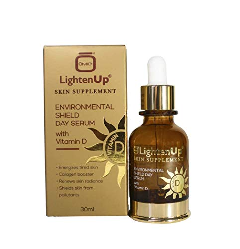 Lightenup Environmental Shield Day Serum 1fl oz - 20% Vitamin C & Vitamin D with Blue Light Blocking Protection from screens - Formulated to Protect and Rejuvenating Skin's Surface