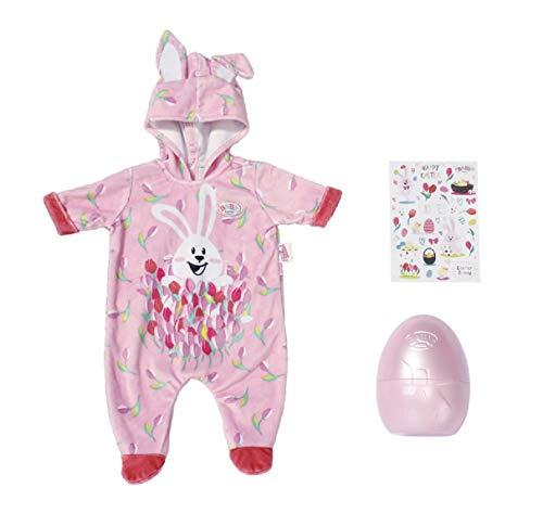 Zapf Creation 830307 BABY born Osterei mit Osteranzug - rosa Puppeneinteiler - Ostergeschenk für Puppen-Fans mit Osterei und Stickern