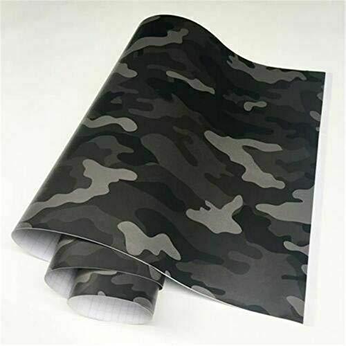 Camo Vinylfolie, Camouflage, Autofolie für Auto-Styling, 2 Größen (152 x 30 cm, schwarz)