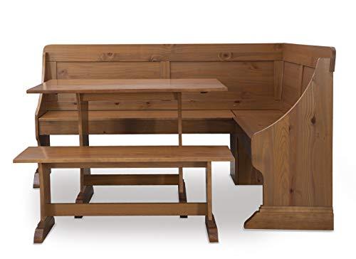 Linon Pine Breakfast Table and Bench Patrik Nook