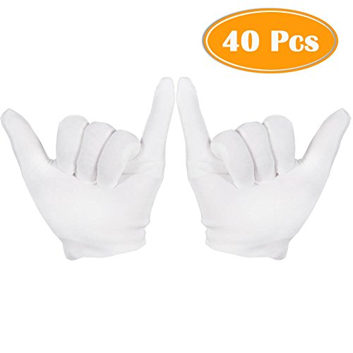 Large Size Zealor 6 Pairs Moisturizing Gloves Cotton Gloves Extra Thickness Hand Spa Gloves Moisture Enhancing Gloves
