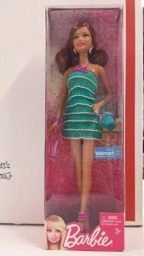Barbie Muñeca Barbie de la realidad en vestido verde del brillo