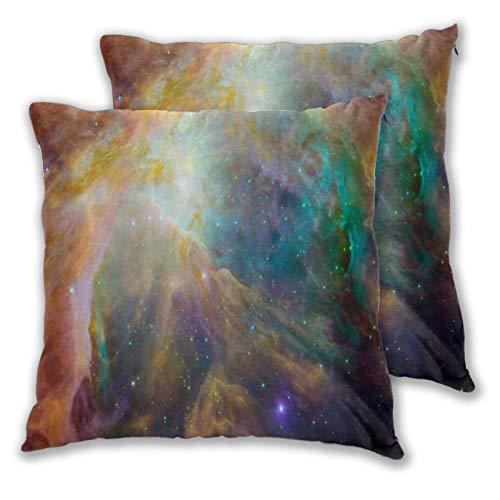 ALLMILL Juego de 2 Decorativo Funda de Cojín,Nebulosa De Orión Nebulosa De Emisión Constelación Orión,Funda de Almohada Cuadrado para Sofá Cama