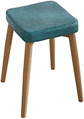 Stackable Small Square Stool Metal Legs Dining Stool,Faux Leather Padded,for Dorm, Rec Room or Gameroom,46x33x33cm (Size : 11)