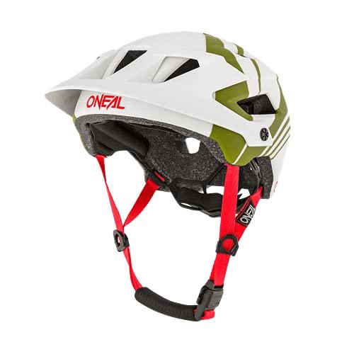O'NEAL | Mountainbike-Helm | Enduro All-Mountain | Belüftungsöffnungen für Kühlung, Polster waschbar, Sicherheitsnorm EN1078 | Helmet Defender Nova | Erwachsene | Grau Olive | Größe L/XL