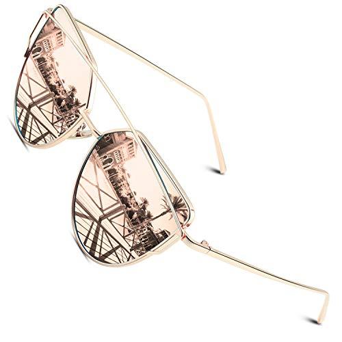 CGID Espejo de moda Polarizadas ojo de gato Gafas de sol para mujer UV400 MJ74