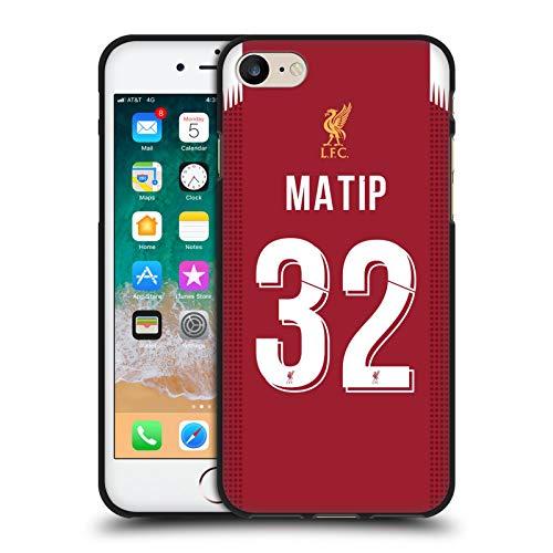 Head Case Designs Oficial Liverpool Football Club Joël Matip 2019/20 Jugadores Kit Local Grupo 1 Funda de Gel Negro Compatible con Apple iPhone 7 / iPhone 8 / iPhone SE 2020