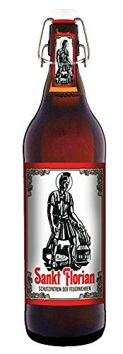 Sankt Florian - 1 Liter Flasche Bier mit Bügelverschluss (keine Geschenkverpackung)