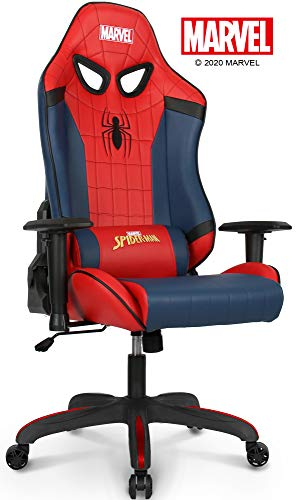 Marvel Avengers Gaming Chair Office Chair Computer Racing Desk Chair Black - Endgame & Infinity War Series Marvel Legends, (Spider Man, Red)