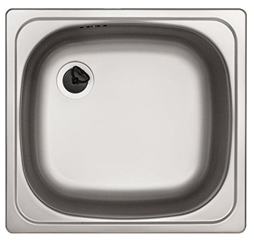 Rieber Einbaubecken E 43 Edelstahl Küchenspüle MADE IN GERMANY 425x395x150mm 1 Becken ohne Abtropffläche Spülbecken glatt langlebig und rostfrei