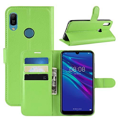 HualuBro Huawei Y6s Hülle, Premium PU Leder Stoßfest Klapphülle Schutzhülle HandyHülle Handytasche Wallet Flip Hülle Cover für Huawei Y6s Tasche (Grün)