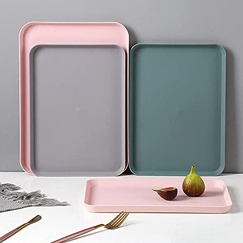 TOSISZ Bandeja De Almacenamiento De Plástico Rectangular Simple Nórdica para Postre De Frutas, Suministros De Cocina, Color Burdeos