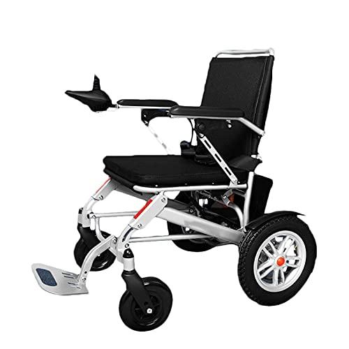 FGVDJ Scooters para Personas Mayores con discapacidades, eléctrico Plegable, Marco de aleación de magnesio, Motor de Alta Potencia de 500 W, Sistema de frenado Inteligente
