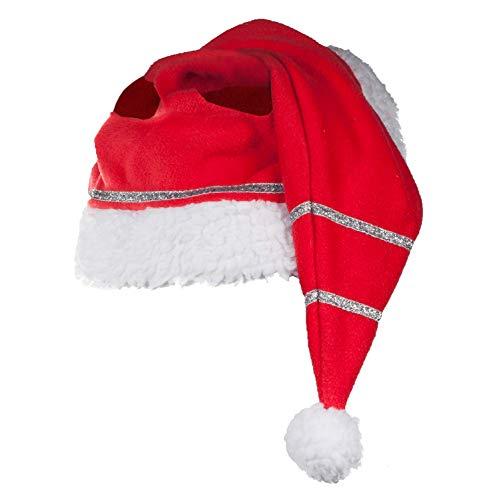 netproshop Pferde Winter Weihnachtsmütze mit Glitzer One Size