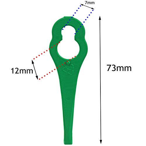 Nanlaohu 40 x Plastic Blades for GTECH ST04 ST05 Grass Trimmer Strimmer