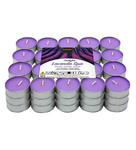 60 Teelichter Stück duftenden, Duftteelichter Duft Lavendel