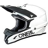 O'NEAL | Casco da motocross | MX Moto | Calotta in ABS, Standard di sicurezza ECE 22.05, Prese d'aria per una ventilazione e un raffreddamento ottimali | Casco 1SRS solido | Adulto | Bianco | Taglia L