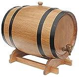 Barriles de roble Barriles de madera verdaderamente Barriles de roble para hornear internos para almacenamiento o envejecimiento Vino, licores, cerveza de barril, vino, borbón, tequila, ron, más - 10L
