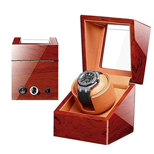 BJH Automatische Uhrenbewegungsbox Für 1 Uhr, leises Motornetzteil und batteriebetriebene 5-Rotationsmodi Uhrenspeicherbox (Farbe: D)