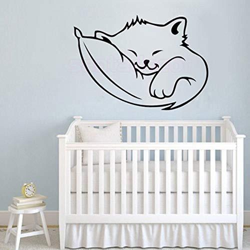 HNXDP Stickers Lovely Kitten Cat Dodo Vinyl Mural Wall Decal Sticker Art Home Decor Wallpaper para niños Kids Room Decoration Poster 40x55cm