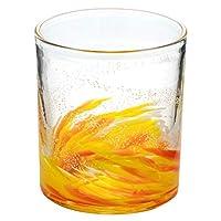 琉球ガラス海蛍ロックグラスてぃだ (748-0061)神秘的に光るグラス作者:泉川寛勇沖縄県の工芸品Ryukyu glass Umihotaru Rock glass, Izumikawa Hiroisa, Okinawa craft