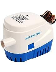 FreeTec Bomba de Agua de Sentina para Barco Sumergible Automática Auto con Interruptor de Flotador (760GPH 12V)