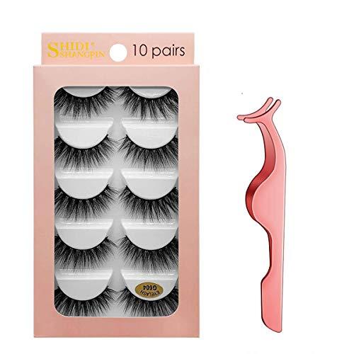 Oce180anYLV 1 Paar Faux Nerz Wimpern Nat/ürliche Lange 3D handgemachte Make-up Falsche Dicke Wimpern 31#
