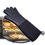 Guantes Prácticos y económicos guantes para asar a la parilla, guantes resistentes al calor, asadores de silicona para cocinas de barbacoa, agarraderas antideslizantes impermeables para barbacoas, coc