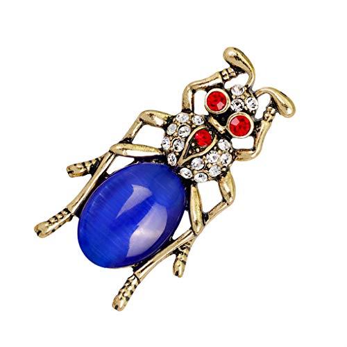 PRENKIN Forma de Diamantes de imitación de aleación de Mujeres de Insectos Broche de Ropa de Las Muchachas Ant Ramillete Insignia Breastpin