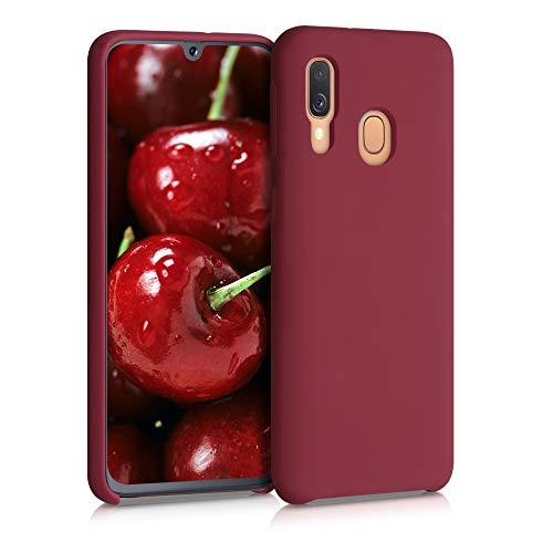 kwmobile Cover Compatibile con Samsung Galaxy A40 - Custodia in Silicone TPU - Back Case Protezione Cellulare Rosso rabarbaro
