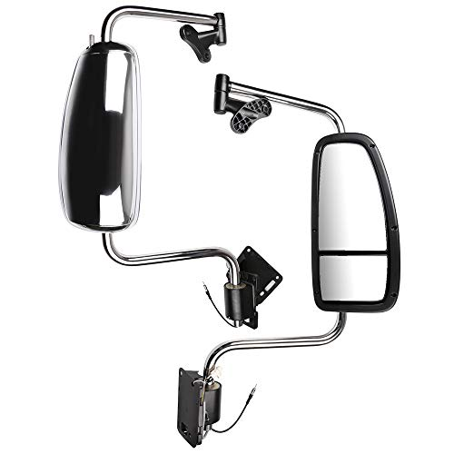 Best Bargain WHEELTECH Door Mounted Mirrors Truck Hood Mirrors Compatible with 1997-2010 Internation...