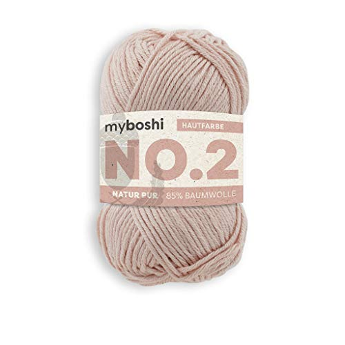 myboshi Häkel- und Strick-Garn | Modell: No.2 mit Kapok-Faser | leichtes Garn | 2440 Hautfarbe