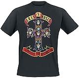Guns N' Roses Appetite For Destruction - Cover Hombre Camiseta Negro L, 100% algodón, Regular