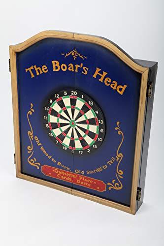 point Home - Armadietto per freccette The Boar's Head, con bersaglio e mobile per lo stile retrò, 70 cm