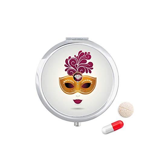 DIYthinker Vrouwelijkheid Masker Gelukkig Carnaval Van Venetië Travel Pocket Pill Case Medicine Drug Opbergdoos Dispenser Spiegel Gift
