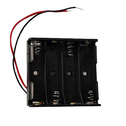 Portapilas 4 Pilas 6v Caja de batería para 4 Pilas AA 6V