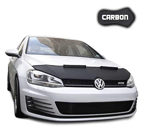 Black Bull Haubenbra für VW Golf 7 CARBON Steinschlagschutz Motorhaubenschutz Automaske