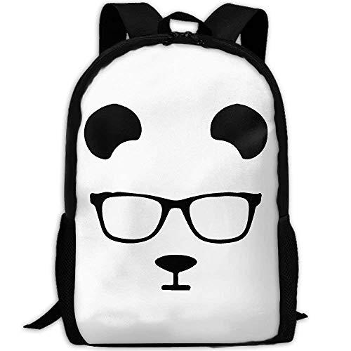 Casual Mochila,Daypacks,Morral Cotidiano,Messenger Bag,Bandolera,Gafas De Dibujos Animados Panda Face Women & Men...