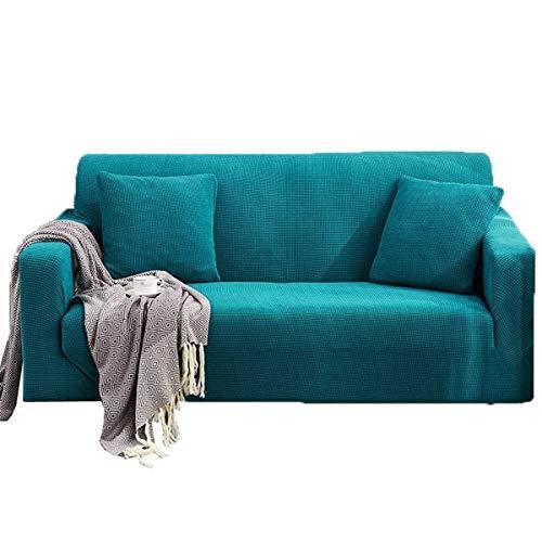 LXWLXDF-Funda de sofá Elástica con todo incluido Sofá Sofá Cubiertas estilo europeo cubrir los muebles color sólido Tejido de punto impermeable Lazy protector for SofaSingle, dobles, triples, cuádrupl