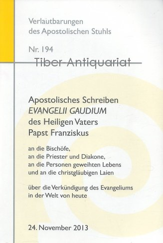 Verlautbarungen des Apostolischen Stuhls 194.
