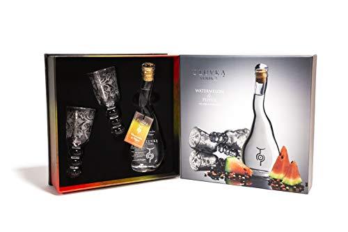 U'Luvka Vodka WATERMELON & PEPPER The Spirit of Pleasure 40% - 100 ml in Giftbox with 2 glasses