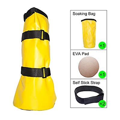Tactical Element Horse Hoof Soaking Bag Reusable Poultice Boot Horse Hoof Soaker Horse Foot Treatment Bag with EVA Pad and Self Attach Self Stick Strap