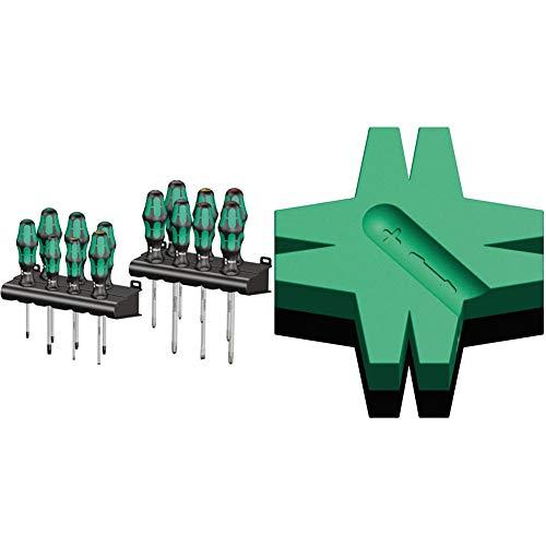 Wera 05105630001 Kraftform Big Pack 300, 16 piezas, Set + 05073403001 Gancho magnético