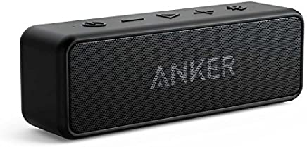 Anker Soundcore 2 Portable Bluetooth Speaker with Superior Stereo Sound, Exclusive Bassup, 12-Watts, IPX5 Water-Resistant, 24-Hour Playtime, Perfect Wireless Speaker for Home, Outdoors, Travel
